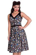 Cotton Blend V Neck Knee Length 50's, Rockabilly Women's Dresses