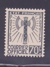 """FRANCE STAMP TIMBRE DE SERVICE N° 5 """" FRANCISQUE 70c GRIS-NOIR """" NEUF (x)"""