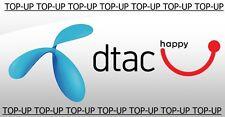 DTAC - HAPPY Thailand Prepaid Guthaben Aufladung Top-Up/refill Credit 1,000THB