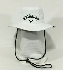 Callaway Golf Hat White Fitted S/M Sun Bucket Fisherman Cap RN#55666 Breathable