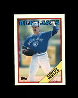 David Wells Rookie Card 1988 Topps Traded #128T Toronto Blue Jays