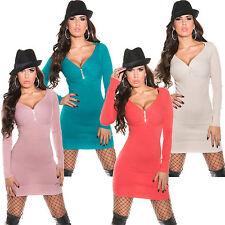 VESTITO DI MAGLIA feinstick vestitino mini abito lungo pullover strass S 34 36