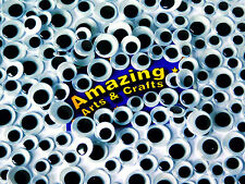 500 Auto Adhesivo Ojos Wiggle pelotas Wiggly Craft pegajoso Google 10mm 12mm 15mm