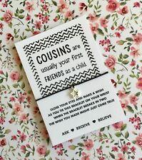 Cousins Wish String! Cousin Wish Bracelet! BUY 5 GET 1 FREE!