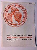 1968 (3/15 -16) NCAA Eastern Regional Basketball Championships Program VERY GOOD