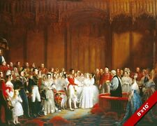 MARRIAGE OF QUEEN VICTORIA GREAT BRITAIN HISTORY PAINTING ART REAL CANVAS PRINT