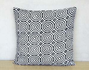 New Circle Design Pillow Covers 100% Block Printed Cotton Cushion Cover Throw