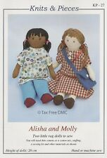 VAT Free Sewing PATTERN ONLY TO MAKE Alisha Molly Rag Dolls Hand / Machine KP-27