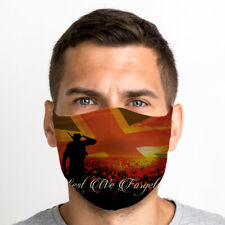 Lest We Forget One Size Reusable Washable Breathable Face Mask From UK