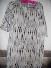 NICE& ELEGANT NWT WOMENS CREAM & BLACK FROM TU TUNIC DRESS UK16/ EUR 44