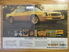 Camaro Advertisement Group #10 Your choice from a lot of 10 1978 1979 1980