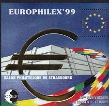 TIMBRE BLOC  CNEP N° 29 SALON EUROPHILEX  99    DENTELE