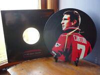 "Eric Cantona - Manchester Utd 12"" LP Vinyl Record Wall Clock, Pop Art, Canvas"