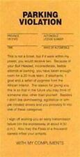 4 PAD ( 100 PIECES ) FUNNY TRICK PARKING TICKETS novelty fake gag ticket new gag