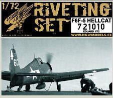 721010 HGW Riveting Set - F6F-5 Hellcat (Eduard) 1:72