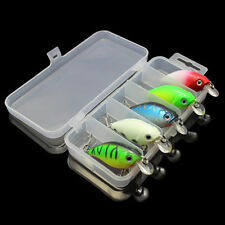 5pcs Fishing Lures Kinds Of Minnow Fish Bass Tackle Hooks Baits Crankbaits Hot