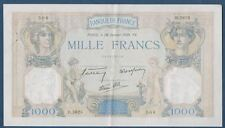 FRANCE - 1000 FRS CERES & MERCURE Fay n° 38. 33 du 26-1-1939. en TTB/SUP  D.5625