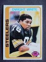 Dwight White #255 Topps 1978 Football Card (Pittsburgh Steelers) VG