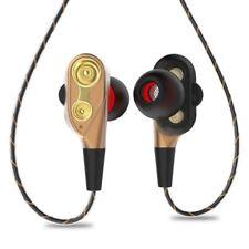 3.5mm HiFi Auriculares con cable de cable flexible con microfono HD (Oro) X6N8