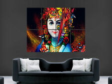 RADHA KRISHNA POSTER RELIGION GOD ART TRIPPY ABSTRACT IMAGE LARGE WALL PICTURE