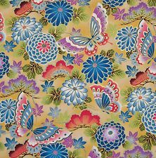 FAT QUARTER STUNNING JAPANESE KONA BAY ALLOVER LOTUS ROSE FQ COTTON FABRIC