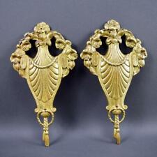 French Pair of Art Deco Bronze Petite Pediments Furniture Mount Hardware