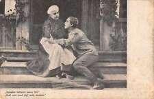 Linnankoski Movie Scene Mother and Son Antique Postcard J67062