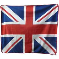 Union Jack Fleece Blanket - picnic / car, travel blanket.