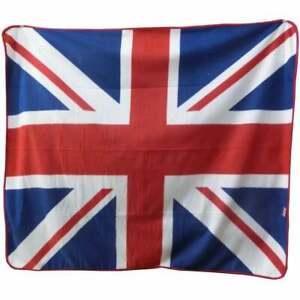 Union Jack Fleece Blanket - picnic / car, travel blanket.