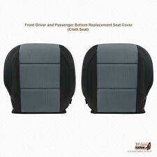 Front Driver-Passenger Bottoms Gray/Black Cloth Covers For 2006 Nissan Titan SE