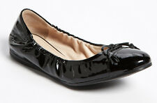 NIB PRADA Tassel Bow Black Patent Leather Ballet Flat Size EU 36/US 6 Shoes $420