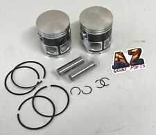 Yamaha Banshee 350 Stock Bore 64 mm Coated Pistons Piston Pins Clips Kit ONLY