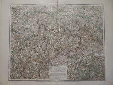 Landkarte Königreich Sachsen, Dresden, Leipzig, Lithographie, Andrees 1897