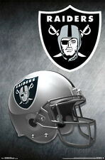 NFL Oakland Raiders - Team Helmet Logo 2015 Poster - 22x34- Football