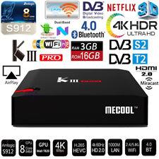 MECOOL KIII Pro 3G 16G 4K OTT Octa core Android TV Box WiFi HDMI DVB S S2 T T2 C