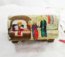 Vintage Handmade Oriental BONE BOX with Lid, Ottoman treasure chest Figurine