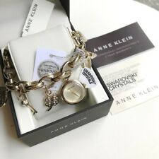 Anne Klein Watch * 7604CHRM Gold Tone Swarovski Charm for Women COD PayPal