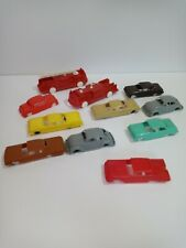AVINTAGE LOT OF PLASTICVILLE AND OTHER PLASTIC CARS (11)