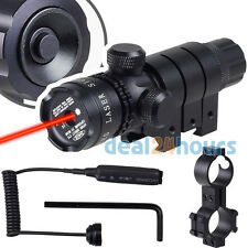Tactical Red Laser Sight Dot Adjusted Rifle Picatinny Rail Barrel Mount 2 Switch