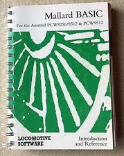 Mallard BASIC for Amstrad PC programs manual