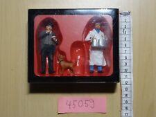 Preiser  G  1:22,5 Art 45059  Wurstverkäufer + Kunde handbemalt OVP/Neuware