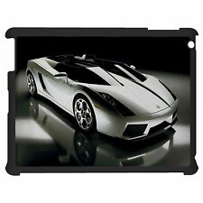 White Car And Lightning Tablet Case Cover For Apple Google Samsung
