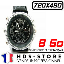 MONTRE SC CAMERA ESPION WTCH9 8 GO INTEGRES VIDEO PHOTO AUDIO BRACELET CUIR