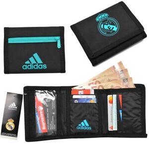 Adidas Real Madrid Wallet Purse Bag Gift Black