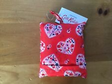 Cath Kidston Red Pink Lace Heart Foldaway Shopper Bag BNWT ❤️