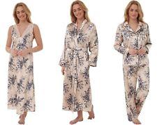 Indigo Sky Tonal Charmeuse Satin Nightdress, Pyjamas or Robe Slate Print10-28