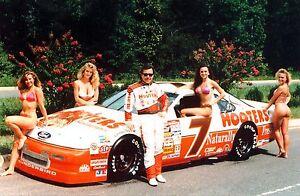 BEAUTIFUL NASCAR SUPERSTARS ALAN KULWICKI 8X10 PHOTO W/BORDERS