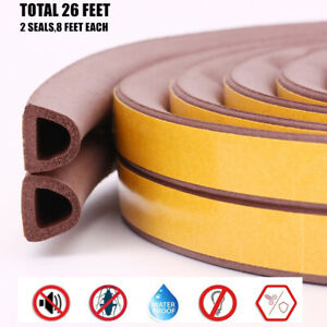Foam Weather Stripping Windows Doors Seal Strip Soundproof Weatherstrip Gap