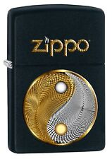 Zippo Abstract Ying Yang Black matte 60003065 NEU+OVP