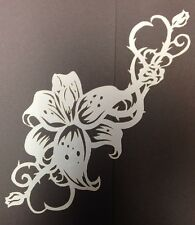 10Mil Laser Cut Mylar Stencil Flower Thorn Rose Design For Airbrush Art Hobby